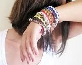 Custom Cuff Bracelet, Gypsy, Bohemian Cuff, Blue, Red, Green, Black, Boho Chic Bracelet, Turkish Jewelry, Statemen Cuff
