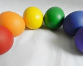 Wooden Eggs - Play Food, Easter Decor, Natural Toy - set of 6