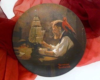 Norman Rockwell, Limited Edition Collector Plate, The Ship Builder, The Shipbuilder, 1980 Knowles Fine China