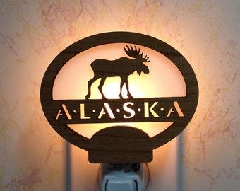 Alaska Moose Night Light