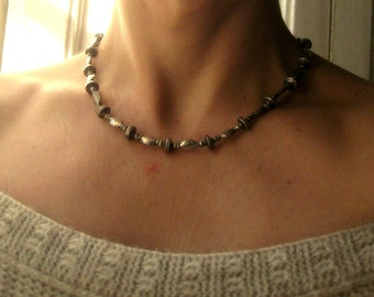 Elegant Sterling Silver Necklace. Indian Ethnic Jewelry