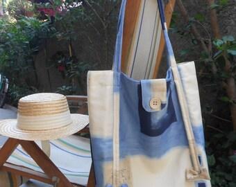 Tote bag, shopping bag, beach bag, handmade fabric bag