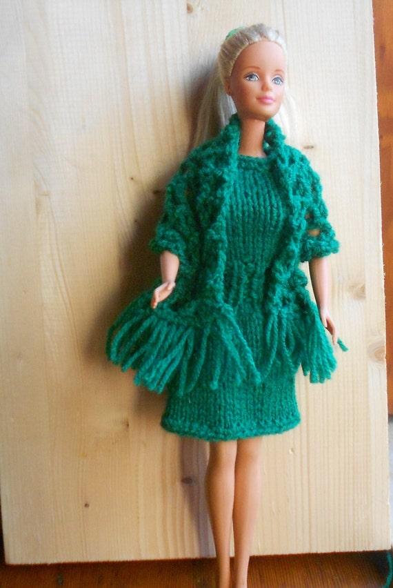 Abito per barbie vestito e scialle lavorati ai di - Barbie senza colore ...