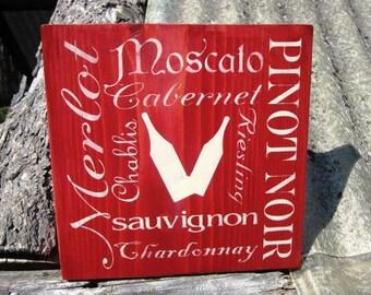 Wine Sign Drink Wine Wooden Sign Merlot Pinot Noir Montana Made Sign Housewares FTTeam OFG Team Typography Sign