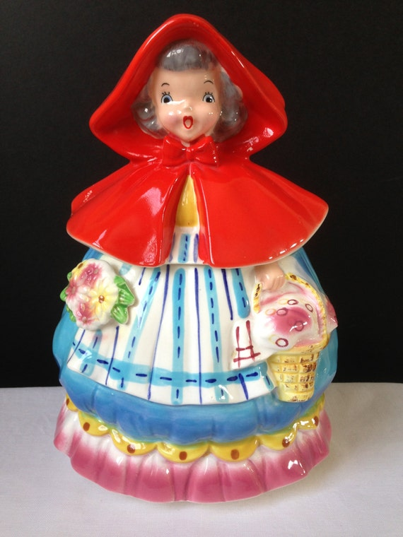 Napco Little Red Riding Hood Cookie Jar 1957
