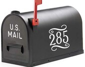 Decorative Mailbox Numbers Vinyl Art  FREE SHIPPING outdoor stickers numbers for mailbox house idenfication postal stickers mailing decals