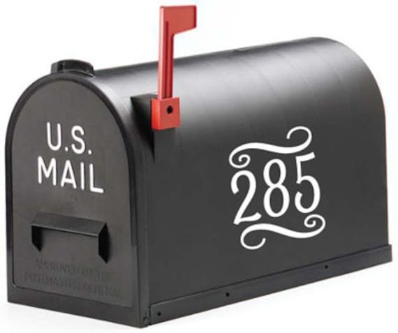 Decorative Mailbox Numbers Vinyl Art FREE SHIPPING Outdoor