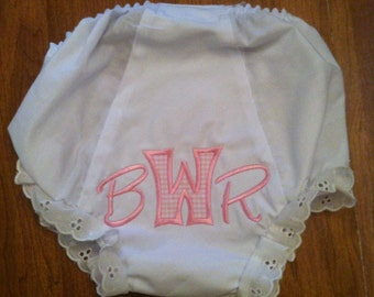 Baby Girl Monogrammed bloomers