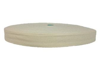 Cotton Twill Tape 100 yards 1 inch Wholesale Herringbone Straps Binding Natural