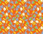 SALE - BRIAR ROSE by Heather Ross for Windham Fabrics - Calico (Orange) - 1 Yard - Quilting Weight Cotton Fabric