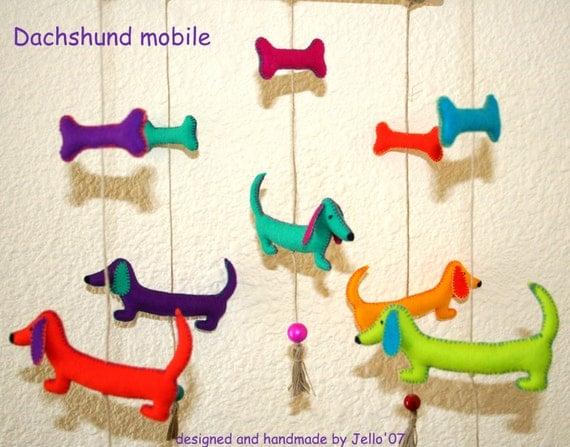 dachshund mobile. Black Bedroom Furniture Sets. Home Design Ideas