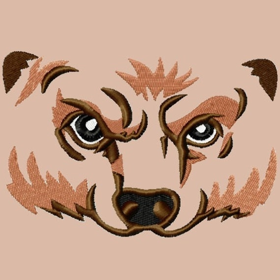 Bear Eyes Embroidery Designs 4 sizes,    hoops 4x4 5x7 6x10 INSTANT DOWNLOAD