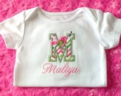 Applique Song Bird Shirt, Alphabet Bird T-Shirt or Bodysuit Personalized, Bird Shirt, Girls Tops