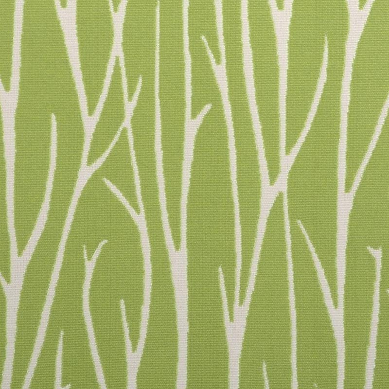 Lime Green Abstract Upholstery Fabric With Grass Scenic