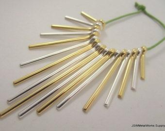 Graduated Fan Beads, Gold and Silver Fan, 20 - 59 mm