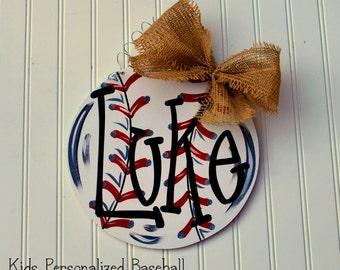 Baseball Door Hanger, Baseball team gift, Softball team gift