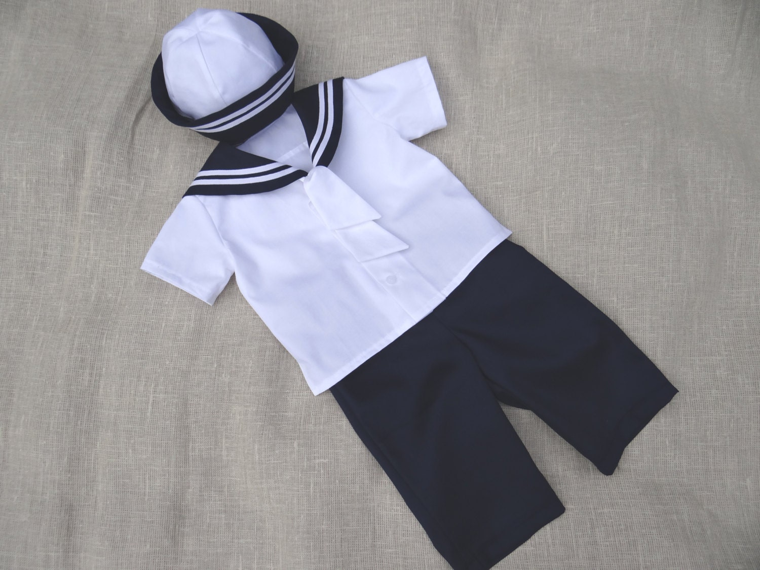 Baby Boy Sailor Outfit Nautical Wedding Boy Ring Bearer Suit
