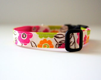 Last Chance! Spring Clearance Sale! Floral Dog Collar Adjustable Sizes (XS, S, M)