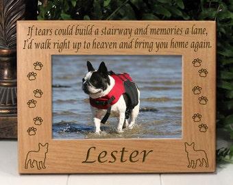 French Bulldog If Tears Poem Dog Memorial Frame