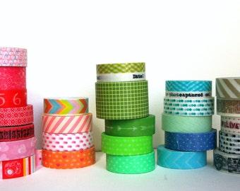 Planner Washi Tape Sampler - You Choose 5+ tapes