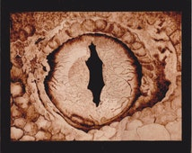 Woodburn art Dragon eye lizard upclose and personal
