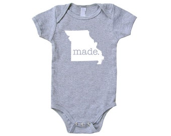 Missouri 'Made.' Cotton One Piece Bodysuit - Infant Girl and Boy