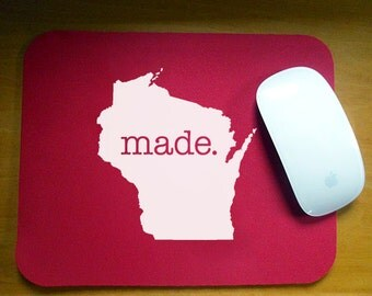 Wisconsin 'Made' Computer Mouse Pad