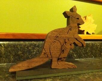 Decorative Wooden Kangaroo puzzle