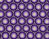 Purple Medallions - Cotton Fabric - 1 Yard