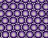 Purple Medallions - Cotton Fabric - 1 Yard