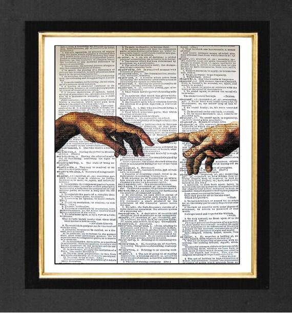The Hand of God Sistine ChapelMixed Media art by sherryannshop