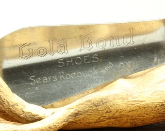 Vintage Metal Gold Bond Shoes Sears Roebuck & Co. Shoehorn