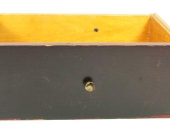 Vintage Wooden Secretary Office Desk Drawer - Mahogany