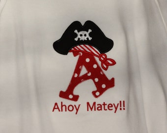 Appliqued Pirate Alphabet