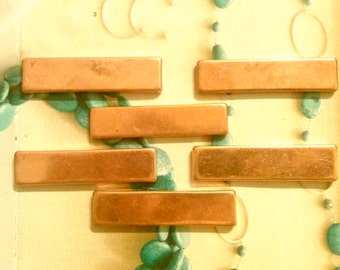 "6 Copper Clad 2-1/4"" by 3/4"" Name Tag Bars"
