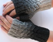 Black - Gray Fingerless Gloves/Mittens with Plaints for practicall Men. - solva