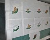 "Applique/Embroidered ""Pea Pods"" Quilt Blocks"