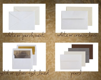 Printing of 25 photographic paper one-sided cards (with envelopes)