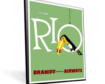 Vintage Travel Reprint Rio on 8x10 PopMount Ready to Hang FREE SHIPPING