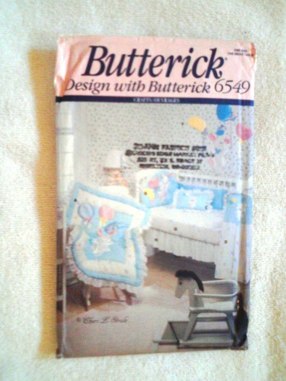 Uncut Vintage Butterick Sewing Pattern 6549 Baby Room