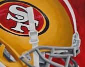 SF 49ers Helmet Fine Art