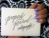 Modern Calligraphy Envelopes - Custom order for Amy Phillips