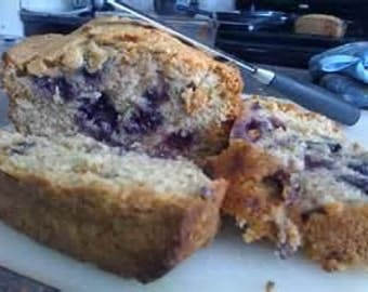 Zucchini Bread w/Blueberries 4 Loaves of Homemade bread, Moist Delicious Zucchini bread Get 4 Loaves FREE SHIPPING