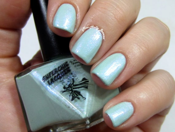 Figmint Of My Reality Nail Polish - Mint Iridescent Chrome Shimmer - Gaslighted Collection - Full Size 15 ml Bottle