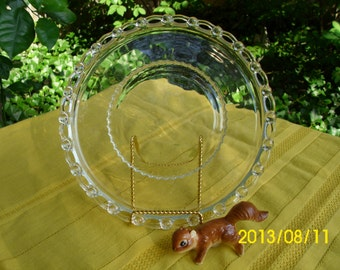 Vintage Heisey Clear Glass Boopie/Candlewick Like Rope Edge-Salad/Dessert Plate