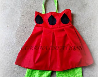 Watermelon, Picnic, Summer Themed Boutique Style  Ruffle Capri Set Set size NB 3  6 9 12 24 months, size 2 3 4 5 6