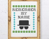 Heisenberg - Cross Stitch Pattern.