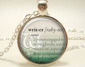 Personalized Dictionary Word Necklace, Custom Text Pendant Jewelry (GDICTS1IN)