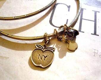 Little Apple Bangle Bracelet