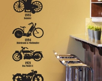 Removable Four Motorcycle Nature Vinyl Wall Paper Decal Art Sticker Q527